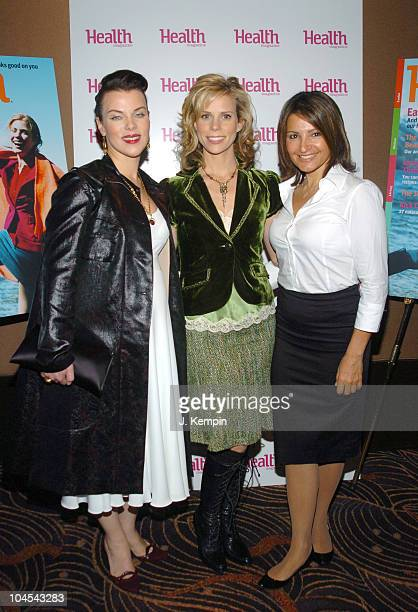 Debi Mazar Cheryl Hines and Kathrine Narducci during Health Magazine's 7th Annual Health Beauty Awards Luncheon at The Mandarin Oriental Hotel in New...