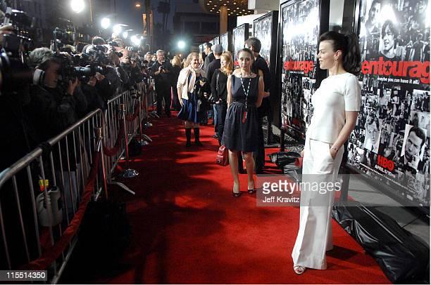 "Debi Mazar during ""Entourage"" Third Season Premiere in Los Angeles - Red Carpet at The Cinerama Dome in Los Angeles, California, United States."