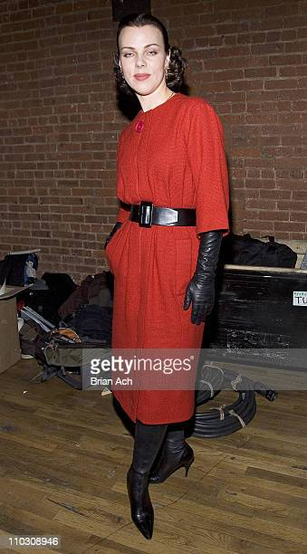 Debi Mazar during MercedesBenz Fashion Week Fall 2007 Anne Klein Front Row and Backstage at The Waterfront in New York City New York United States