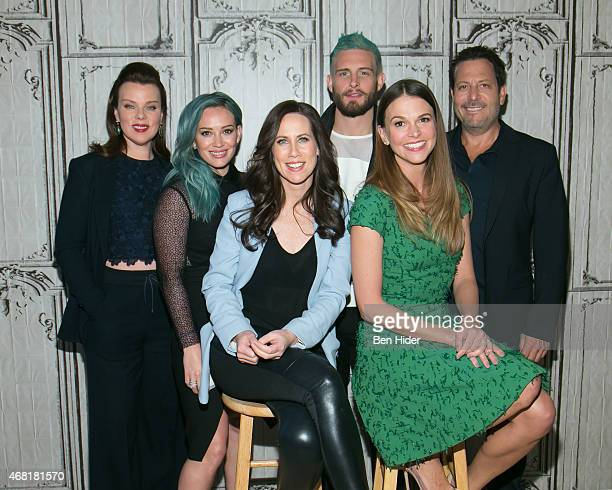 Debi Mazar Hilary Duff Miriam Shor Nico Tortorella Sutton Foster and Director Darren Star attends AOL BUILD Speaker Series The Cast Of Younger at AOL...