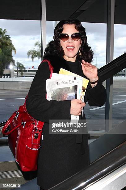 Debi Mazar is seen at LAX on January 07 2016 in Los Angeles California