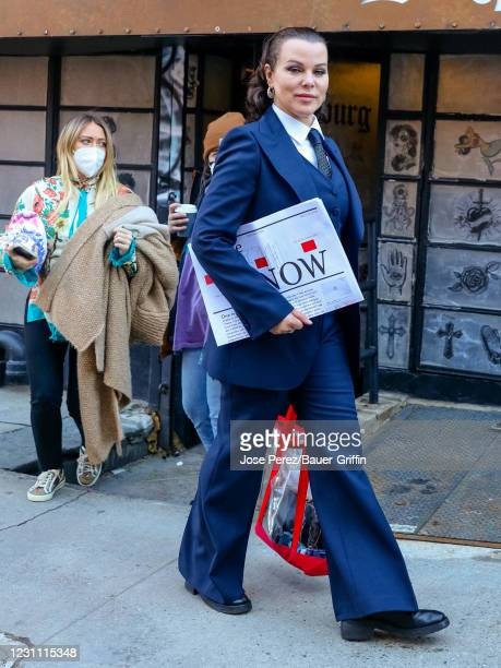 Debi Mazar is seen at the film set of the 'Younger' TV Series on February 11, 2021 in New York City.
