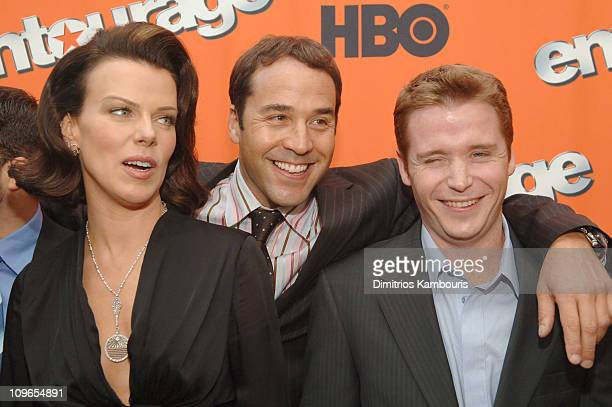 Debi Mazar Jeremy Piven and Kevin Connolly during HBO's Entourage Season 2 New York City Premiere Arrivals at Lincoln Center in New York City New...