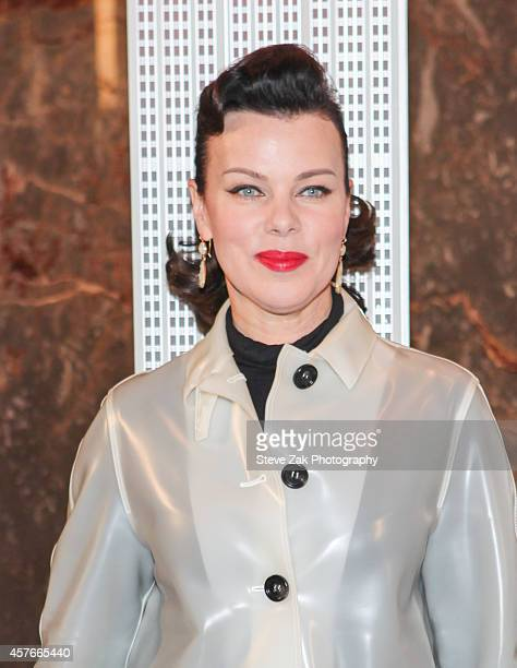 Debi Mazar Lights The Empire State Building In Honor Of The New York Police Fire Widow's And Children Benefit Fund on October 22 2014 in New York City