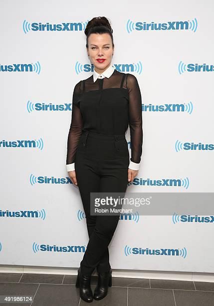 Debi Mazar visits at SiriusXM Studios on October 9, 2015 in New York City.