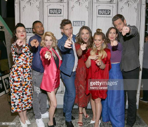 Debi MazarCharles Michael Davis Molly Bernard Nico Tortorella Sutton Foster Hilary Duff Miriam Shor and Peter Hermann visit Build Series to discuss...