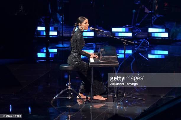 Debi Nova performs onstage during The 21st Annual Latin GRAMMY Awards at American Airlines Arena on November 19, 2020 in Miami, Florida.