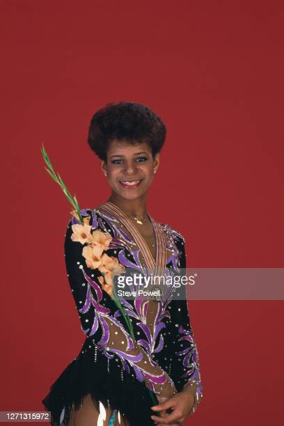 Debi Thomas of the United States celebrate winning gold in the Ladies Figure Skating Singles competition during the ISU World Figure Skating...