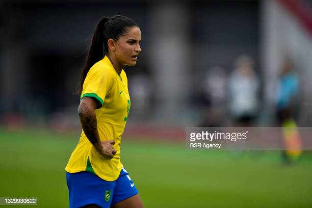 Debinha of Brazil during the Tokyo 2020 Olympic Football Tournament match between China and Brazil at Miyagi Stadium on July 21, 2021 in Rifu, Japan