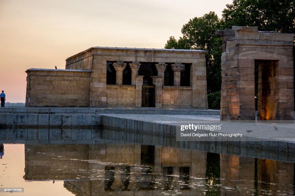 Debod Egyptian Temple, Madrid : Foto de stock