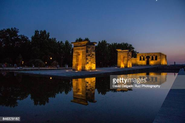debod egyptian temple, madrid - david delgado ruiz stock-fotos und bilder