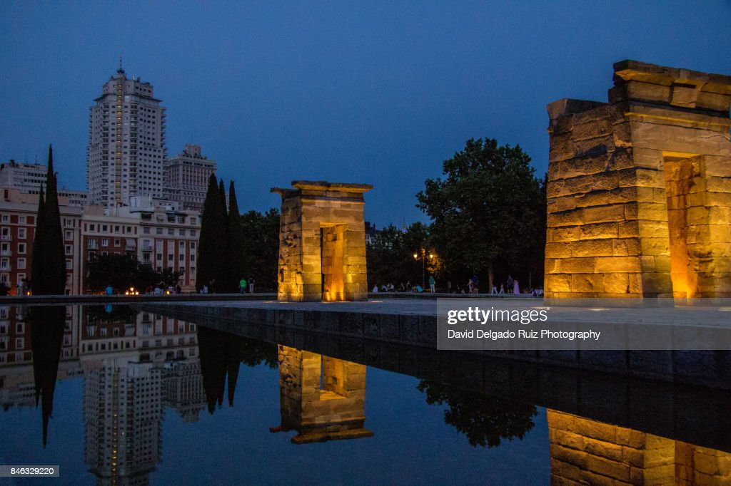Debod Egyptian Temple, Madrid : Stock-Foto