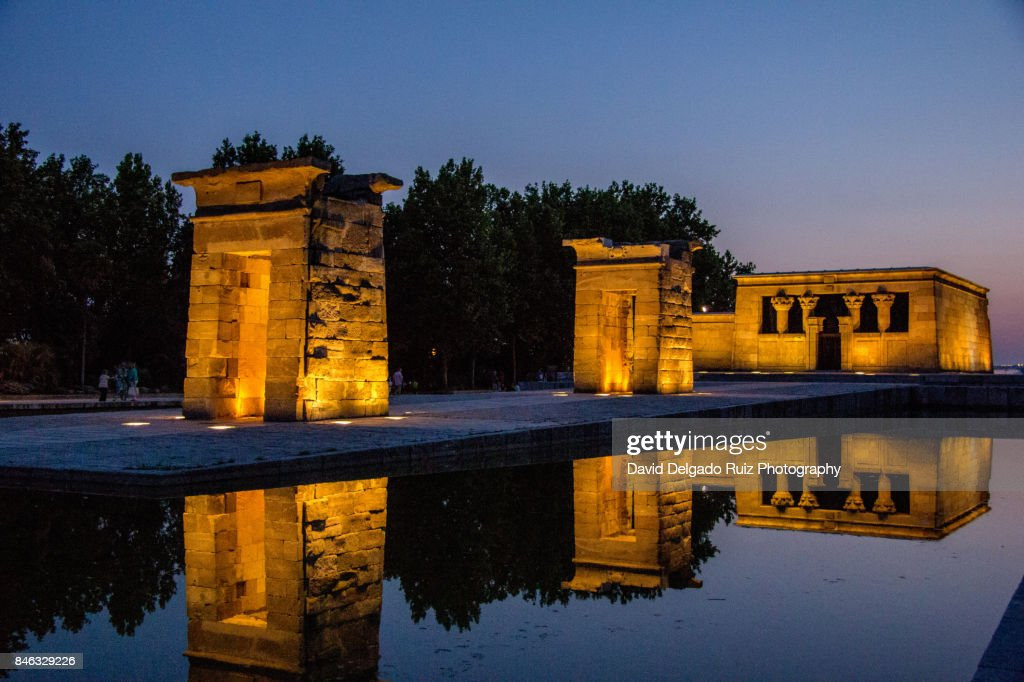 Debod Egyptian Temple, Madrid : Foto de stock