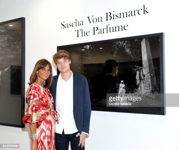 Debonnaire von Bismarck Photographer Sascha von Bismarck and celebrity floral and fragrance designer Eric Buterbaugh attend the private opening of...