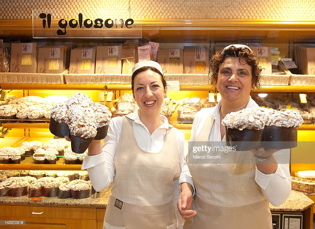 Debora L And Mara R Two Sale Assistants At Colussi Bakery Hold