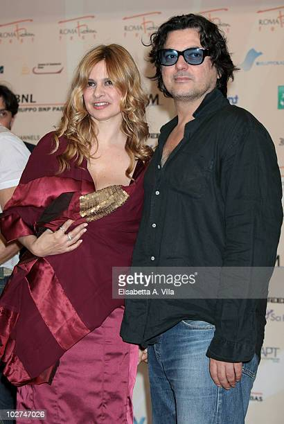 """Debora Caprioglio and Angelo Maresca attend a photocall for """"Wilma La Nuova Direttrice"""" during the Roma Fiction Fest at Adriano Cinema on July 8,..."""