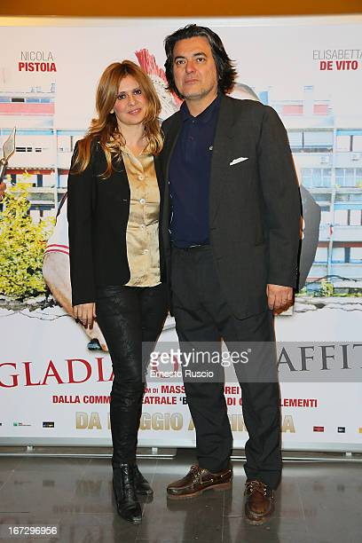 Debora Caprioglio and Angelo Maresca attend the Benur premiere at The Space Moderno on April 23 2013 in Rome Italy