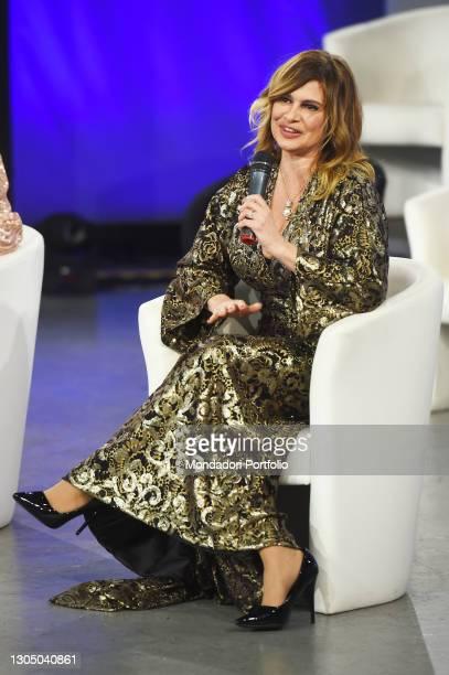 Debora Caprioglio at presentation of the new collection of the designer Eleonora Lastrucci at the goldtv Television Studios. Rome , February 28th,...