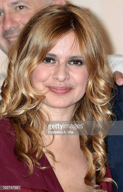 Debora Caprioglio attends a photocall for Wilma La Nuova Direttrice during the Roma Fiction Fest at Adriano Cinema on July 8 2010 in Rome Italy