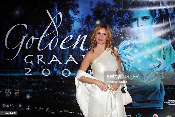 Debora Caprioglio attends the 2009 Golden Graal Awards Ceremony at the Teatro Olimpico on October 4 2009 in Rome Italy