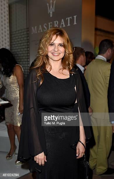 Debora Caprioglio attends the 60th Taormina Film Festival on June 21, 2014 in Taormina, Italy.