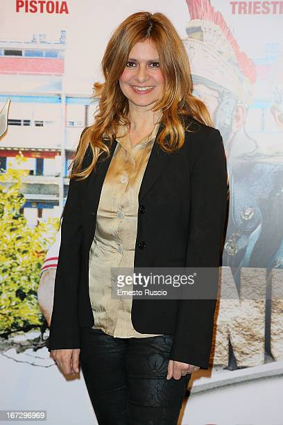 Debora Caprioglio attends the Benur premiere at The Space Moderno on April 23 2013 in Rome Italy