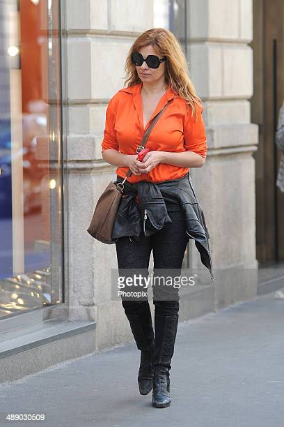 Debora Caprioglio is seen on May 9 2014 in Milan Italy