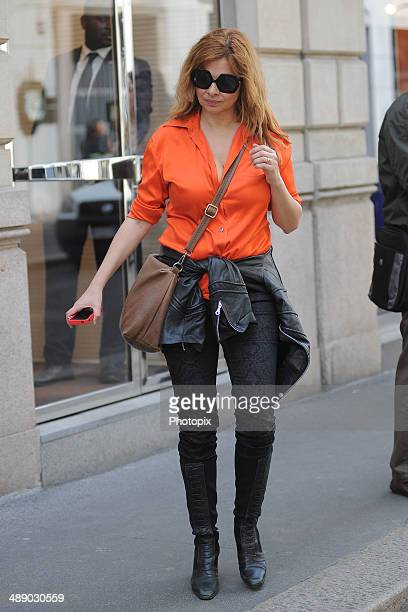 Debora Caprioglio is seen on May 9, 2014 in Milan, Italy.