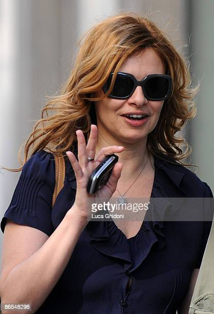 Debora Caprioglio is seen shopping on May 7 2009 in Milan Italy