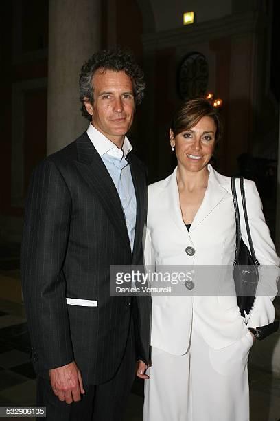Debora Compagnoni e il marito Alessandro Benetton during Opening of Palazzo Grassi Party at Venezia Palazzo Grassi in Venezia Italy