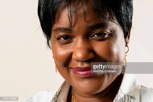 Debora Kayembe a human rights lawyer born in the Democratic Republic of the Congo who lives in Scotland, poses for portraits at her home in...
