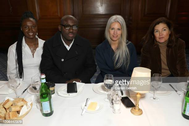 Deborah Ababio Edward Enninful Sarah Harris and Kate Phelan attend the Molly Goddard show during London Fashion Week February 2020 on February 15...
