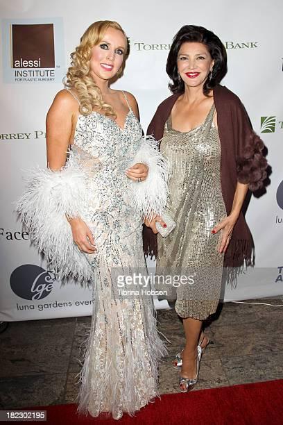 Deborah Alessi and Shohreh Aghdashloo attend the 4th annual Face Forward LA Gala at Fairmont Miramar Hotel on September 28 2013 in Santa Monica...