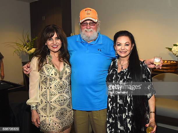 Deborah Allen Charlie Daniels and Crystal Gayle attend the APA Nashville Party on June 7 2016 in Nashville Tennessee