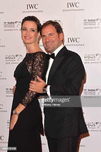 Deborah and Adrian Jossa during the IWC Filmmaker Award Night 2014 at The One Only Royal Mirage on December 11 2014 in Dubai United Arab Emirates