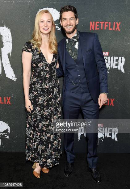 Deborah Ann Woll and Ben Barnes arrive at Marvel's The Punisher Los Angeles Premiere at ArcLight Hollywood on January 14 2019 in Hollywood California