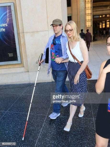 Deborah Ann Woll and EJ Scott are seen on June 28 2017 in Los Angeles California