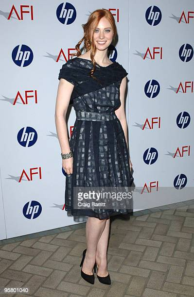 Deborah Ann Woll arrives at the Tenth Annual AFI Awards held at the Four Seasons Beverly Hills on January 15, 2010 in Los Angeles, California.