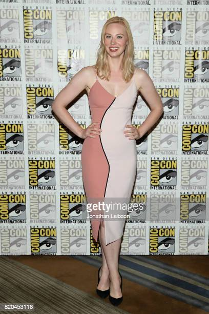 Deborah Ann Woll attends Marvel's 'The Defenders' press line at ComicCon International 2017 day 2 on July 21 2017 in San Diego California