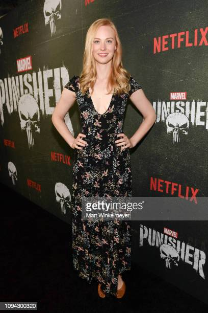 "Deborah Ann Woll attends Marvel's ""The Punisher"" Los Angeles Premiere at ArcLight Hollywood on January 14, 2019 in Hollywood, California."