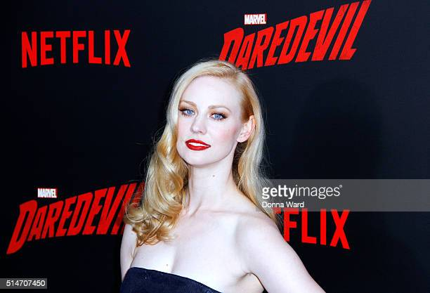 Deborah Ann Woll attends the 'Daredevil' Season 2 Premiere at AMC Loews Lincoln Square 13 theater on March 10 2016 in New York City