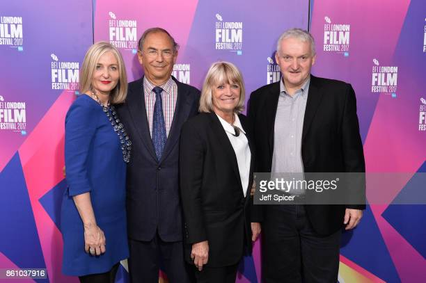 Deborah Armstrong Michael Garin Francine Cousteau and Hamish Mykura arrive at the European premiere of Jane during the 61st BFI London Film Festival...