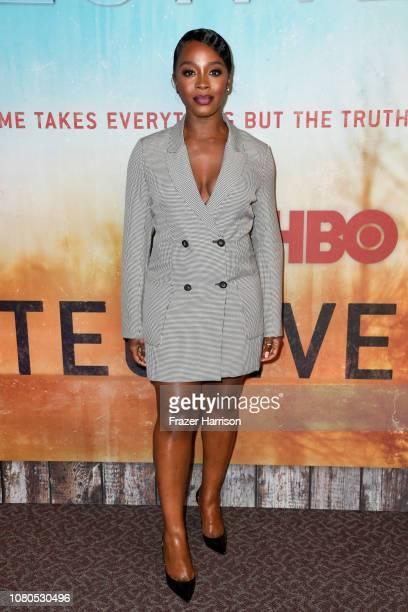 Deborah Ayorinde attends the premiere of HBO's 'True Detective' Season 3 at Directors Guild Of America on January 10 2019 in Los Angeles California