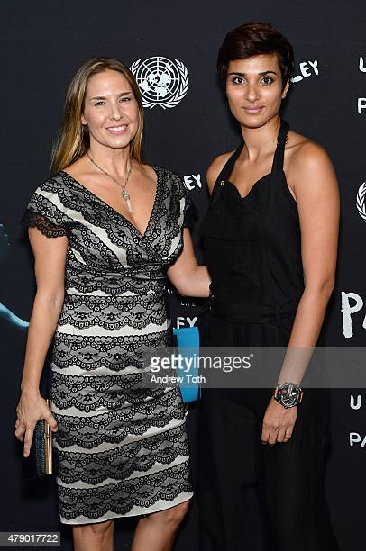 Deborah Bassett and Asher Jay attend President of The General Assembly of The United Nations and Parley for The Oceans Launch Event at United Nations...