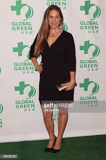 Deborah Bassett arrives at Global Green USA's 9th Annual PreOscar Party at Avalon on February 22 2012 in Hollywood California