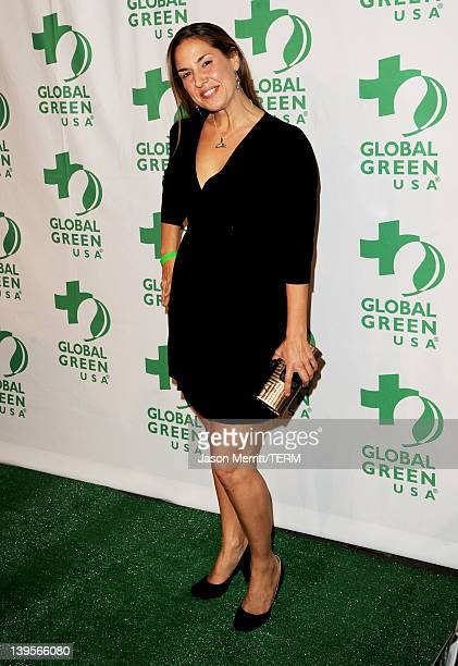 Deborah Bassett arrives at Global Green USA's 9th Annual PreOscar Party Supporting Green Schools and Green Communities at Avalon on February 22 2012...