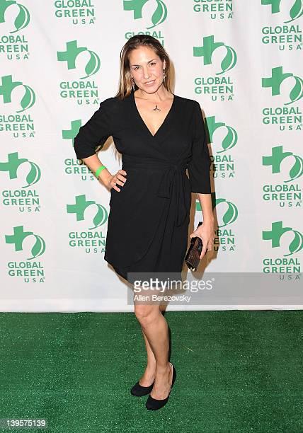 Deborah Bassett arrives at the Global Green USA's 9th Annual PreOscar Party at Avalon on February 22 2012 in Hollywood California