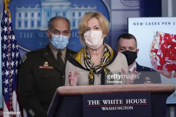 Deborah Birx, coronavirus response coordinator, speaks during a news conference in the White House in Washington, D.C., U.S., on Thursday, Nov. 19,...