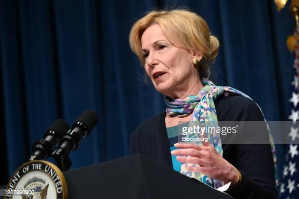 Deborah Birx coronavirus response coordinator speaks during a White House Coronavirus Task Force briefing at the Department of Health and Human...