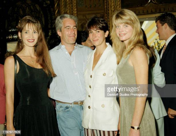 Deborah Blohm Jeffrey Epstein Ghislaine Maxwell and Gwendolyn Beck at a party at the MaraLago club Palm Beach Florida 1995